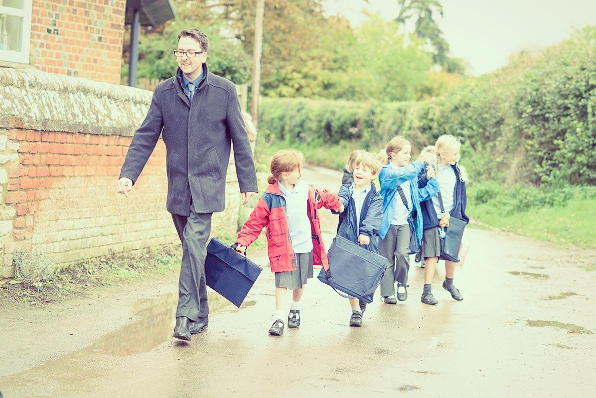 Teacher Walking Children - Different Routes to Becoming a Teacher