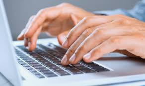 Man Typing Before Interview